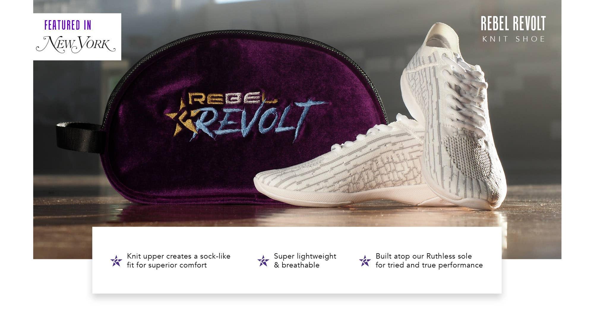 rebel revolt knit shoe